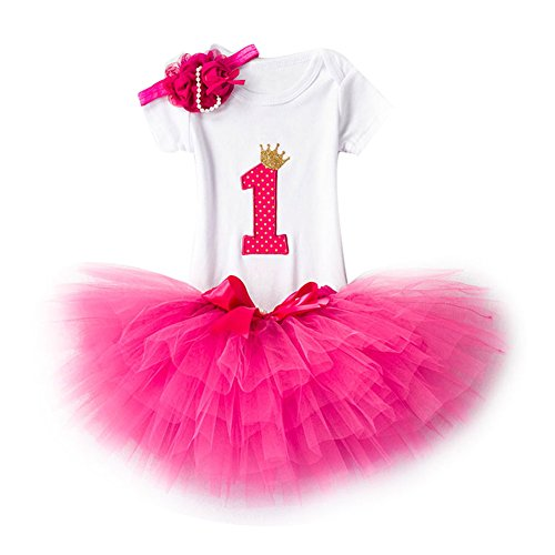 Baby Girl 1st/2nd Birthday Dress Girls Crown Lace Princess Skirt Summer Sequins Bowknot Dresses for Baby Toddlers Kids