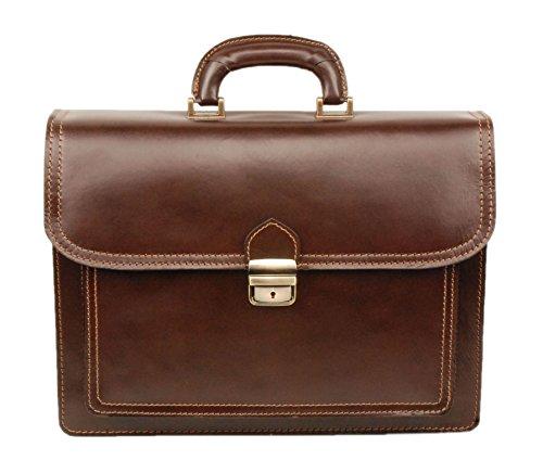 MORITZ II Aktentasche Leder Damen Herren große Leder-Tasche Herren-Tasche Dokumententasche Arbeitstasche leichte Notebook-tasche Laptop-ta...