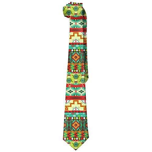 Men's Seamless Pattern In Native American Style Novelty Necktie Tie Choker -