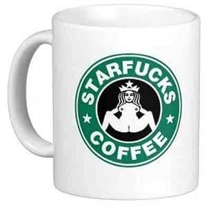 STARFUCKS COFFEE STARBUCKS COFFEE RUDE PARODY MUG - FUNNY ...