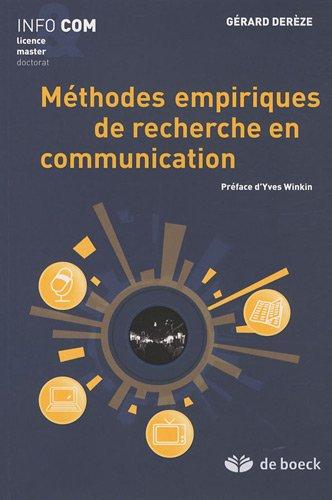 Mthodes empiriques de recherche en communication