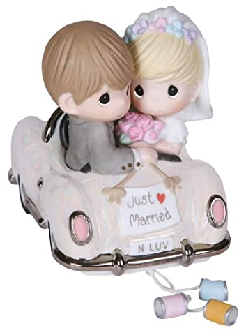 Precious Moments, Just Married, Bisque Porcelain Figurine, 103018