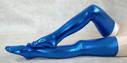 incollaggio-ad-alta-elastico-calze-calzini-vernice-blu-pelle-stretto-costume