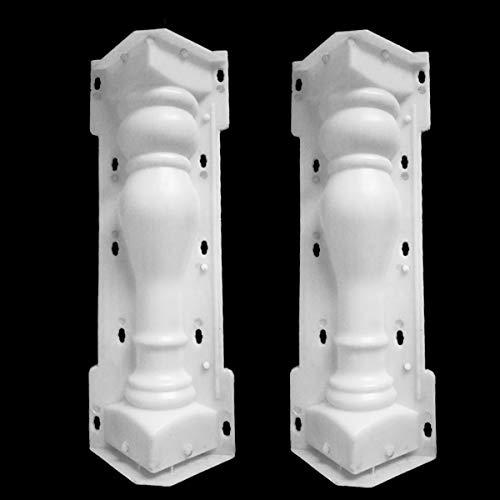 Stampo a colonna romana, per balcone, giardino, piscina, recinzione, cemento, ringhiera, intonaco, cemento