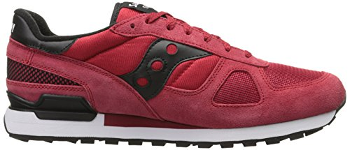 Saucony Shadow Original, Chaussures de Running Homme, Red/Black, 46,5 EU Multicolore (Red/Black)