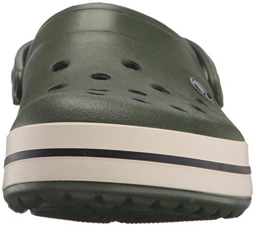 Crocs Crocband, Sabots Mixte Adulte Vert (Forest Green/Stucco)