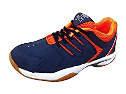 Port Mens Blue Quantum Synthetic Leather Basketball Shoes(10 Ind/Uk)