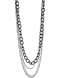 Collar Sautoir Fantasía Metal Negro–4vueltas–75cm–Bijou tarde Mujer