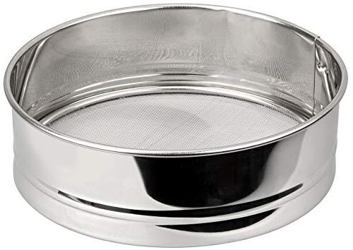 FACKELMANN Wasch-/Mehlsieb extra fein, ideal für Superfood wie Quinoa oder Chia, auch als Mehl-/ Schüttelsieb verwendbar (Farbe: Silber), Menge: 1 Stück