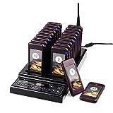 Retekess T112 Cercapersone Ristorante Wireless Pager System Sistema di Chiamare CE 999 Canale 1 Trasmettitore e 20 Cercapersone Portatile per Ristorante Sedile da Caffè All'aperto