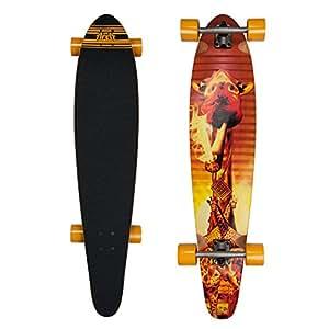 """My area/safari kush/high rebound longboard/t-kicktail 11614093 skateboard en érable canadien/106,7 cm/longueur: 42 cm-largeur: 9 """"/ 22,9 cm"""