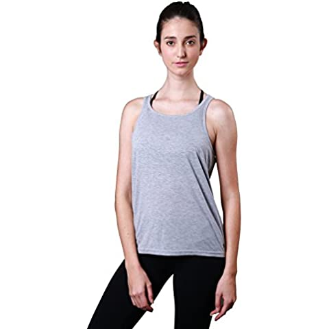 Prime – Yoga Sport Tank Top Chaleco Sin Mangas Super Suave Cubierta trasera