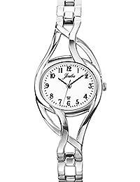 Certus 633193 - Reloj analógico de cuarzo para mujer con correa de metal, color plateado