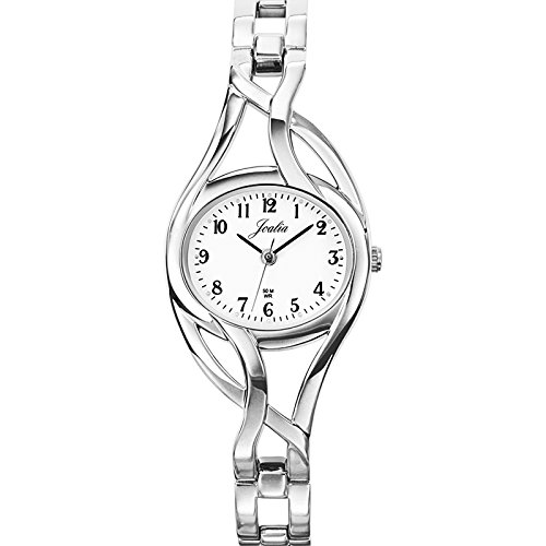 Certus 633193-Women's Quartz Analogue Watch-Silver Metal Strap White Dial