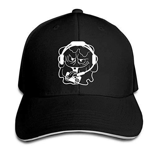 XCOZU Baseball Cap-Gamer Zocken Nerd Geek Headset Controller Konsole Kappe Für Herren Und Damen,Schlanke Minimalistische Klassische Caps