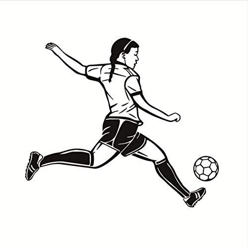 (Zxfcczxf Leidenschaft Spieler Fußball Muursticker Hohe Wasserdichte Tapete Wandbild Fußball Spieler Wandaufkleber Für Mädchen Schlafzimmer Wände Decor50 * 44 Cm)