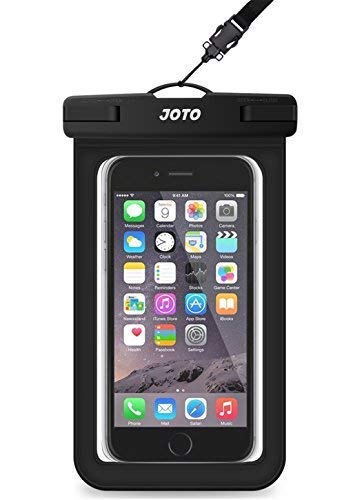 Bolsa Estanca Móvil Universal, JOTO IPX8 Bolsa Seca Impermeable para iPhone XS Max/XR/X/8/7+/6S/6S+, Galaxy S10/S10e/S9/S9+/Note8, Pixel 3, Huawei Xiaomi LG BQ hasta 6' Diagonal -Negro