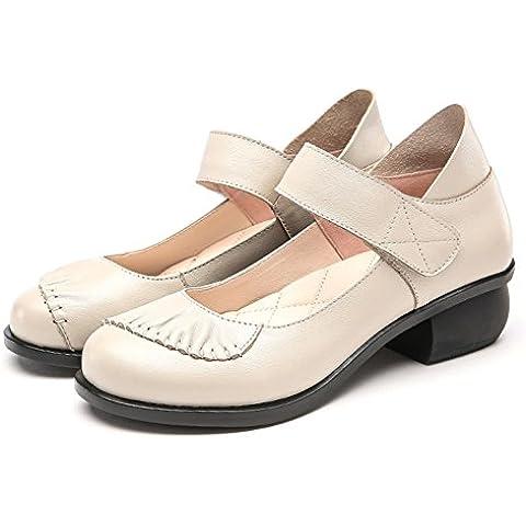 LYF KIU Nella moda con scarpe femminili della bocca poco profonda/ Primavera di massima con (Martens Womens Sandali)