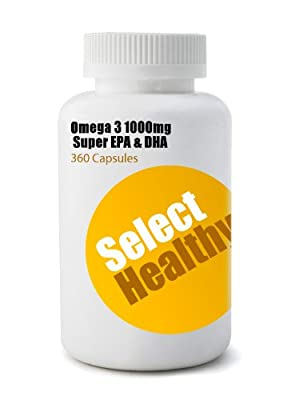 Select Healthy Omega 3 1000mg Super EPA and DHA Pack of 360