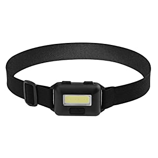 Starnearby LED Head Torch, 180°Akale Super Bright CREE LED Headlamp, 3 Modes, Great for Running, Camping, Hiking & Fishing(Black)