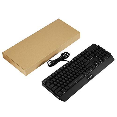 Preisvergleich Produktbild LESHP Gaming Industrie Büro USB Mechanische Tastatur mit LED Hintergrundbeleuchtung Schwarz für professionelle Internet-Nutzer Wired