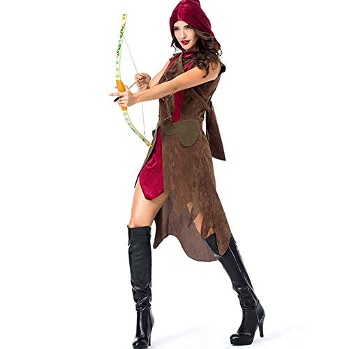 Unbekannt Spartanischer Weiblicher Krieger der Halloween-Frauen Alter Römischer Bogenschütze/Cosplay Kostüm des Gladiators Cosplay,M