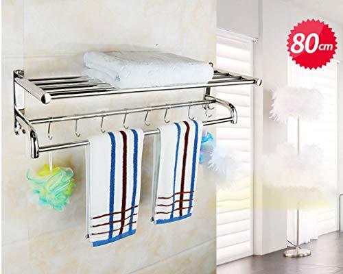 DPPD 304 Edelstahl Handtuchhalter Handtuchhalter Bad Hotel Bad Hardware Zubehör Bad Regale ShelBad Mode-Accessoires Handtuchring (Größe: 80)