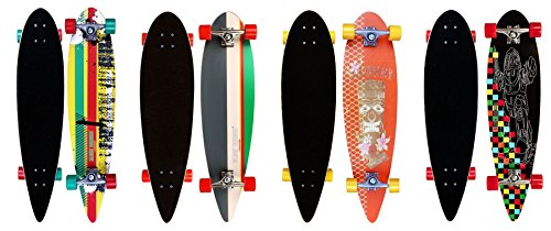 Black Dragon Longboard Pintail Tropical Funk, Grau Weiß Grün, 36 zoll, 1020481