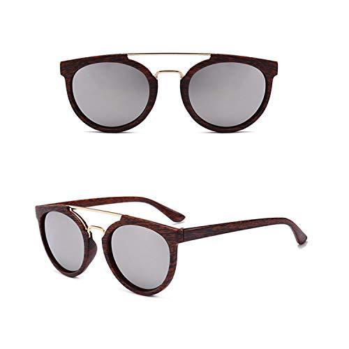 Sport-Sonnenbrillen, Vintage Sonnenbrillen, NEW Wood Grain Sunglasses Men Brand Designer Classic Metal Vintage Sun Glasses For Women Outdoor UV400 Oculos De Sol White Lens
