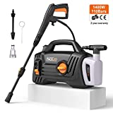 TACKLIFE Pressure Washer, 1400W 110Bar 390L/ H High Efficiency with Foam Jet Nozzle