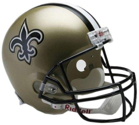 Cardinals Deluxe Replica Fußballhelm, Damen Unisex-Kinder Unisex-Erwachsene Herren, Deluxe Replica Football Helmet, New Orleans Saints, Full Size ()