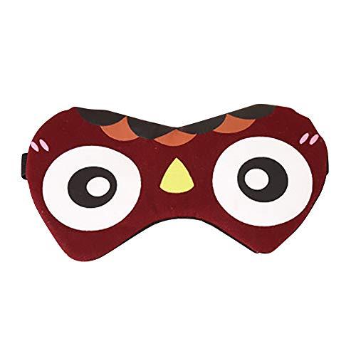 Vimbhzlvigour máscara de Ojos, con Dibujos Animados, Transpirable, persiana, para Viajes, Dormir, Enfriar los Ojos.