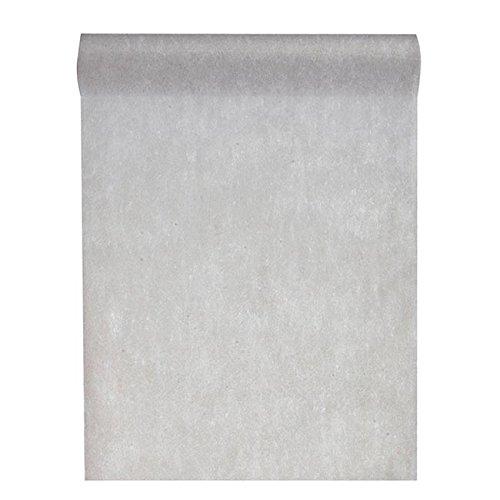 Tischläufer Deko-Vlies 'Edle Tafel' 0,3 x 10 m grau