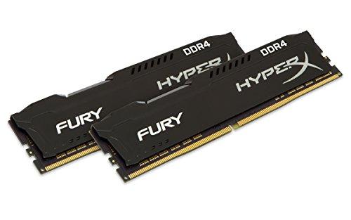 HyperX HX432C18FB2K2/16 Fury Schwarz DDR4 16GB (Kit 2x8GB), 3200MHz CL18 DIMM XMP