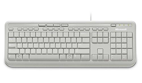 Microsoft Wired Keyboard 600 (Tastatur kabelgebunden, weiss, deutsches QWERTZ Tastaturlayout) - 2