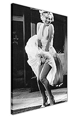 Iconic Marilyn Monroe Subway White Skirt Photo Shoot Canvas Prints Wall Art Pictures Room DÉcor Hollywood Legends Nostalgia - inexpensive UK light store.