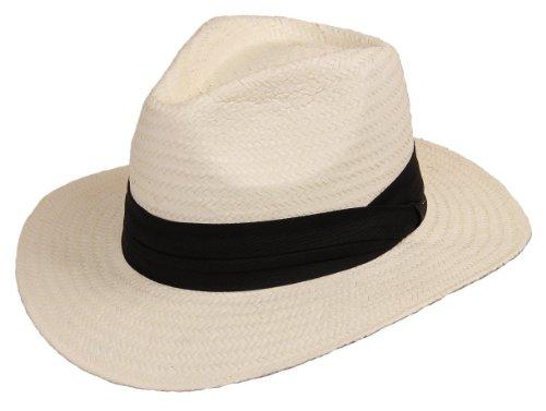 Preisvergleich Produktbild Scippis Strohhut Bogarthut Sommerhut Panama »MINEO« White Weiß Gr.L