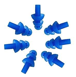 Fletion 5 paia (10 pezzi) silicone Tappi nuotatori morbido e flessibile Tappi per le orecchie per nuotare o Dormire, disponibile in 6 colori