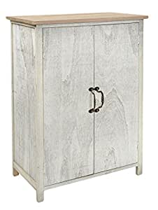 landhaus kommode 80cm ablage bad schrank regal shabby look wei k che haushalt. Black Bedroom Furniture Sets. Home Design Ideas