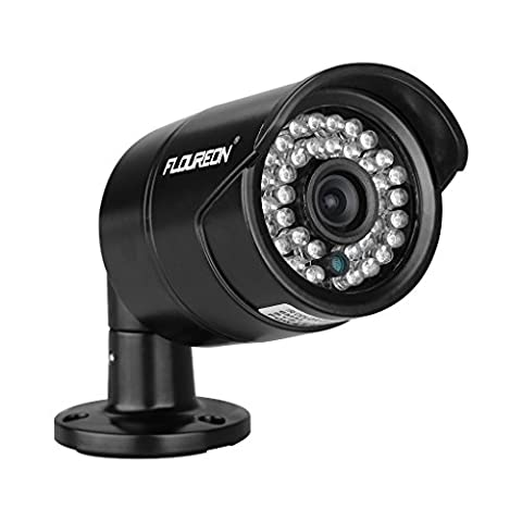 FLOUREON Caméra de Sécurité Étanche IP66 1200TVL 1/3