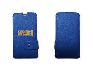ATV Genuine Leather ROYAL BLUE Designer Pouch Case Cover For Acer Liquid Z530