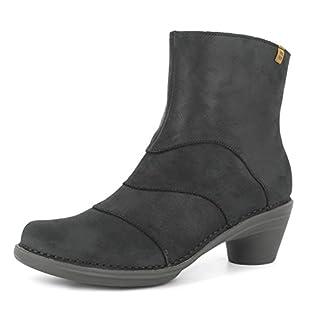 El Naturalista N5328 Aqua Damen Stiefelette,Frauen Stiefel,Boot,Halbstiefel,Damenstiefelette,Bootie,Reißverschluss,Black-Black,EU 37
