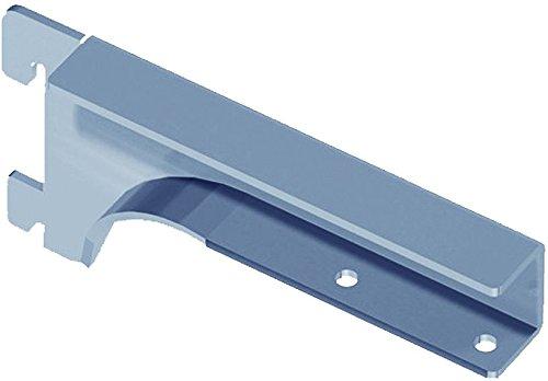 Element System Holzbodenträger Regalbodenträger, 2 Stück, für Holzfachböden 19-22 mm, Wandschiene, Regalsystem, weißaluminium, 10504-00011