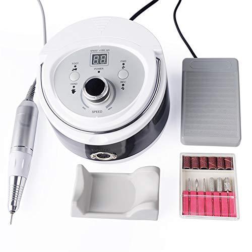 AMNAILS 30000RPM Professionel Nagelfräser Maniküre Maschine Elektrisch Nagelfeile Werkzeug Kunst Poliermaschine Schleifer Werkzeug mit Bits LCD Bildschirm zum Acryl, Gel Nägel