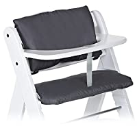 Hauck - 2pcs Deluxe High Chair Insert Cushion for Hauck Alpha/Beta/Gamma - Highchair Seat Cover/High Chair Pad/Highchair Seat Liner - Grey