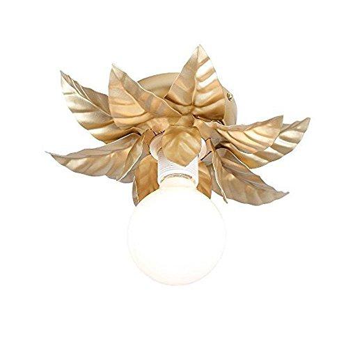 Goldene Deckenleuchte Florentiner Stil Goldblumenantike 27 cm im Durchmesser 1 x E27 60W -
