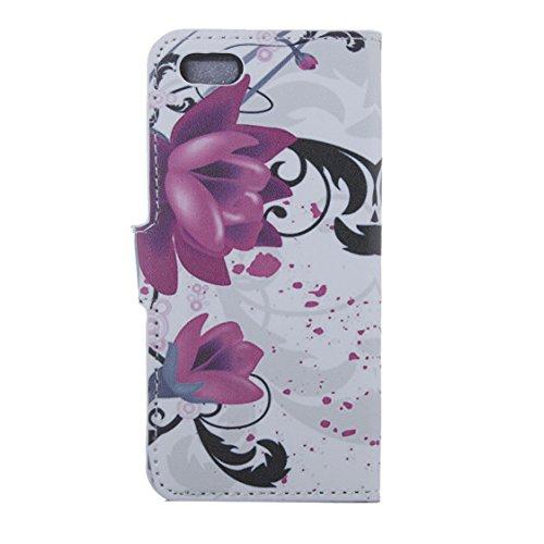 AYASHO® iPhone SE / 5s / 5 Hülle - Hohe Qualität Gemalt PU Kunst Lederhülle Tasche Hülle Kunstleder Flip Case Tasche Etui Schutzhülle für iPhone SE / iPhone 5 / iPhone 5S (A13) A24