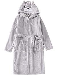 Niños de invierno Batas Franela Vellón Se viste para niños Con capucha Albornoz Ropa de dormir