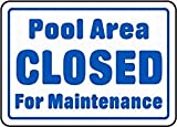 Warnschild Pool Area Closed Warning Signs Private Property Blech Warnschild Outdoor House Decor 20,3 x 30,5 cm