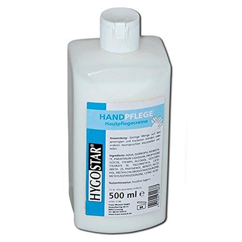 """Hautpflege Handpflege-Creme, nach der Arbeit,""""Derma-Test - Sehr Gut"""", 500ml Flasche, 10 Flaschen"""